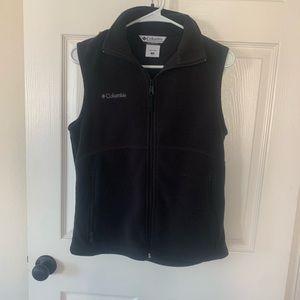 Columbia black fleece vest